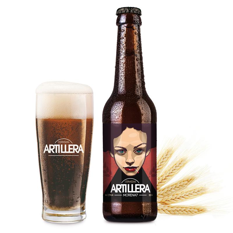 cerveza morena artillera 8